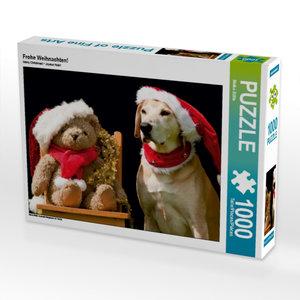 Frohe Weihnachten! 1000 Teile Puzzle quer