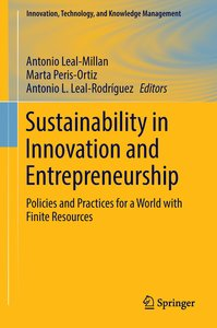 Sustainability in Innovation and Entrepreneurship