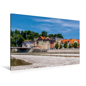 Premium Textil-Leinwand 90 cm x 60 cm quer Altstadt