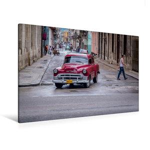 Premium Textil-Leinwand 90 cm x 60 cm quer Oldtimer in Havanna