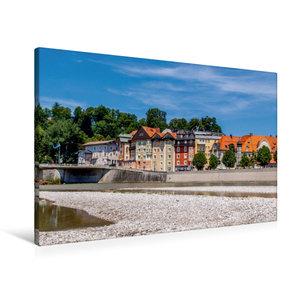 Premium Textil-Leinwand 90 cm x 60 cm quer Kurhaus - Bad Tölz