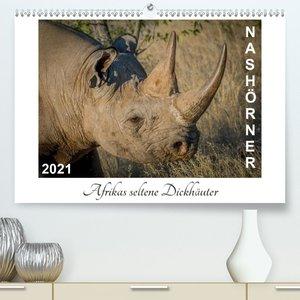 Nashörner - Afrikas seltene Dickhäuter (Wandkalender 2021 DIN A2