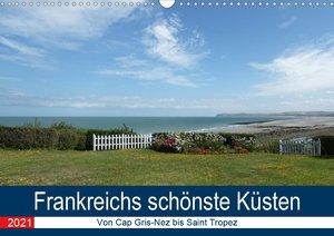 Frankreichs schönste Küsten (Tischkalender 2021 DIN A5 quer)