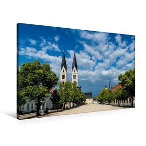 Premium Textil-Leinwand 90 cm x 60 cm quer Al Noor Moschee in Sc