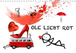 OLE LIEBT ROT (Wandkalender 2021 DIN A3 quer)