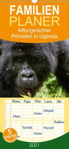 Affengesichter - Primaten in Uganda - Familienplaner hoch (Wandk