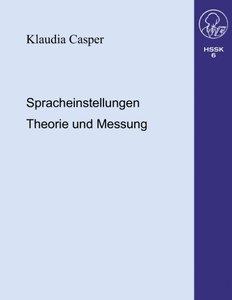 Spracheinstellungen.Theorie und Messung