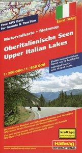 Motomap Oberitalienische Seen Motorradkarte 1 : 650 000