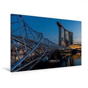 Premium Textil-Leinwand 90 cm x 60 cm quer Helix Bridge mit dem