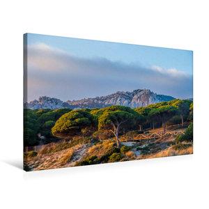 Premium Textil-Leinwand 90 cm x 60 cm quer Tarifa, Costa de la L