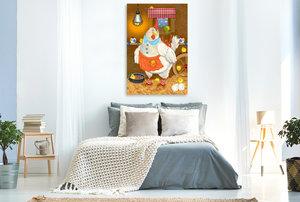 Premium Textil-Leinwand 60 cm x 90 cm hoch Mein Clownfisch Rio