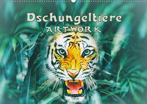 Dschungeltiere - ARTWORK (Wandkalender 2021 DIN A3 quer)