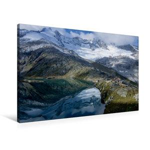 Premium Textil-Leinwand 120 cm x 80 cm quer Speicher Zillergründ