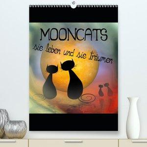 Mooncats - sie leben und sie träumen (Wandkalender 2021 DIN A2 h