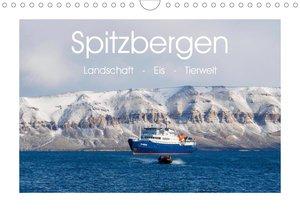 Spitzbergen - Landschaft - Eis - Tierwelt (Tischkalender 2021 DI