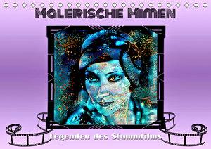 Malerische Mimen - Legenden des Stummfilms (Wandkalender 2021 DIN A2 quer)